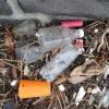 Plastic Trash on Port Melbourne Beaches